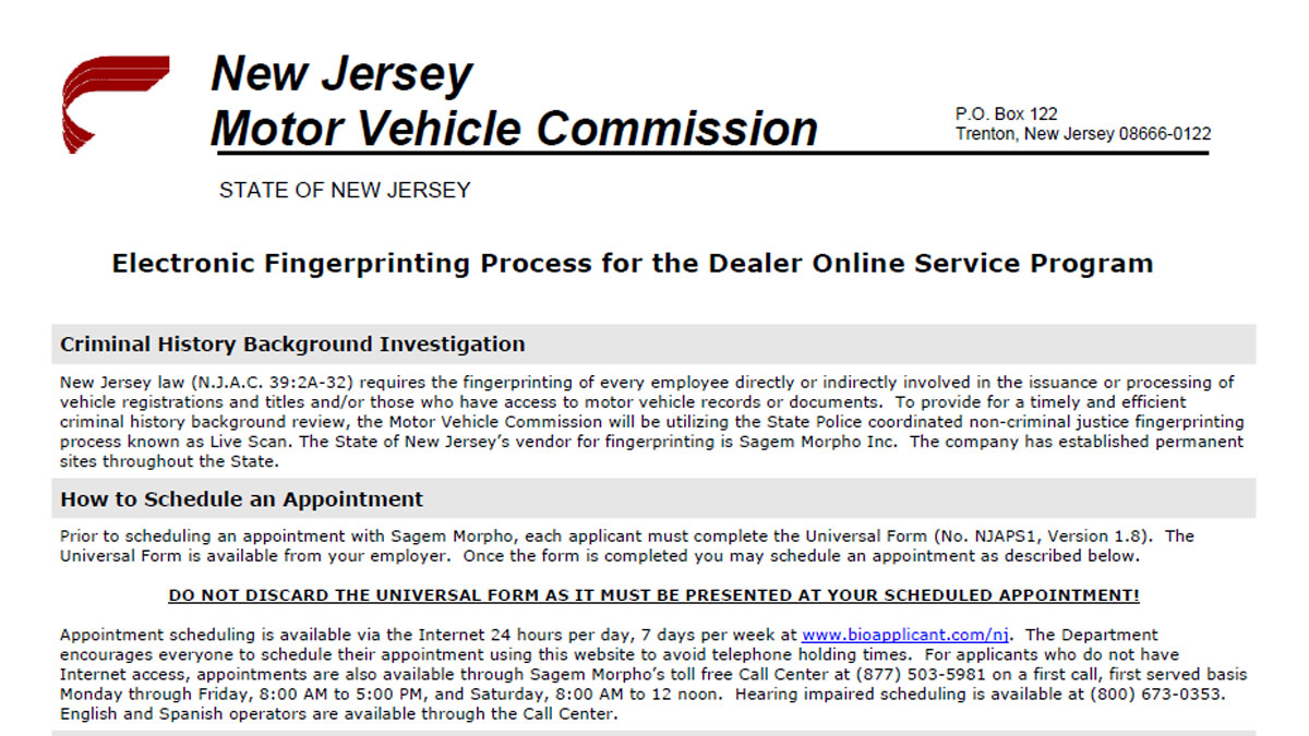 Dealertrack new jersey online registration system nj olrs resources aiddatafo Images