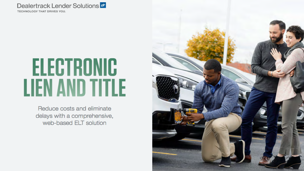 Dealertrack: Electronic Lien and Title